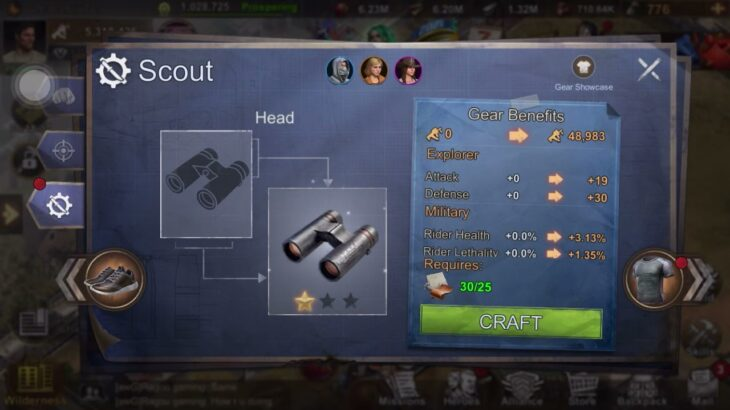 How to craft scout head in state of survival