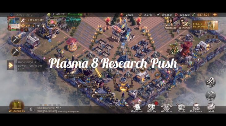State of Survival – SofT Day 1 & Day 2: Plasma 8 Research and Hero Frags Push